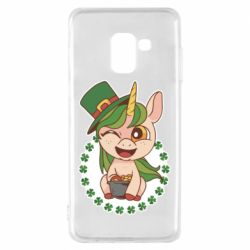 Чехол для Samsung A8 2018 Unicorn patrick day