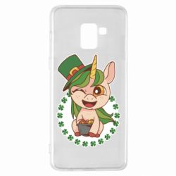 Чехол для Samsung A8+ 2018 Unicorn patrick day