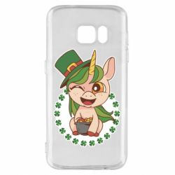 Чехол для Samsung S7 Unicorn patrick day