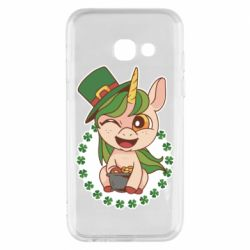 Чехол для Samsung A3 2017 Unicorn patrick day