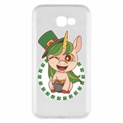 Чехол для Samsung A7 2017 Unicorn patrick day