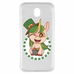 Чехол для Samsung J7 2017 Unicorn patrick day