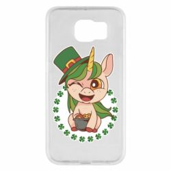 Чехол для Samsung S6 Unicorn patrick day