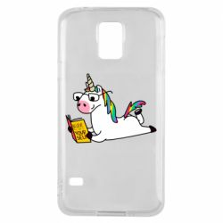 Чехол для Samsung S5 Unicorn reader