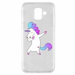 Чехол для Samsung A6 2018 Unicorn swag
