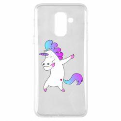 Чехол для Samsung A6+ 2018 Unicorn swag