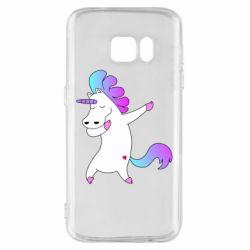 Чехол для Samsung S7 Unicorn swag