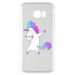 Чехол для Samsung S7 EDGE Unicorn swag