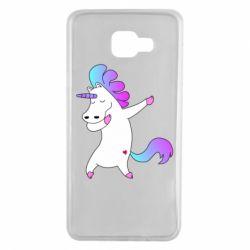 Чехол для Samsung A7 2016 Unicorn swag