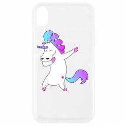 Чехол для iPhone XR Unicorn swag