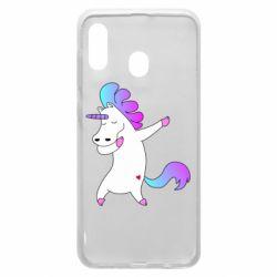 Чехол для Samsung A20 Unicorn swag