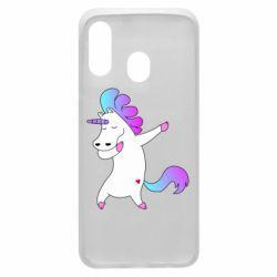 Чехол для Samsung A40 Unicorn swag