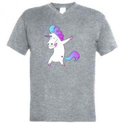 Мужская футболка  с V-образным вырезом Unicorn swag