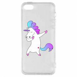 Прикольные рисунки, Чехол для iPhone5/5S/SE Unicorn swag, FatLine  - купить со скидкой