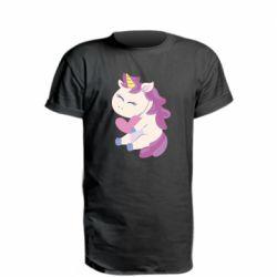Удлиненная футболка Unicorn with love