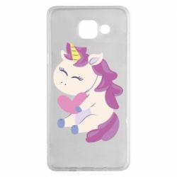 Чехол для Samsung A5 2016 Unicorn with love
