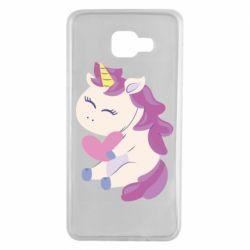 Чехол для Samsung A7 2016 Unicorn with love