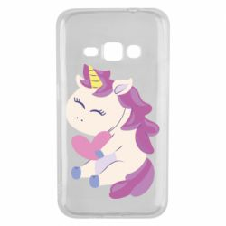 Чехол для Samsung J1 2016 Unicorn with love