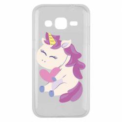 Чехол для Samsung J2 2015 Unicorn with love