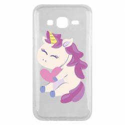 Чехол для Samsung J5 2015 Unicorn with love