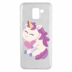 Чехол для Samsung J6 Unicorn with love