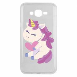 Чехол для Samsung J7 2015 Unicorn with love