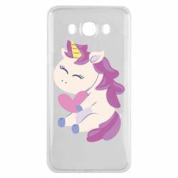 Чехол для Samsung J7 2016 Unicorn with love