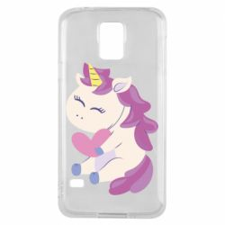 Чехол для Samsung S5 Unicorn with love