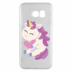 Чехол для Samsung S6 EDGE Unicorn with love