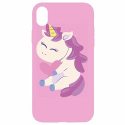 Чехол для iPhone XR Unicorn with love