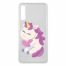 Чехол для Samsung A7 2018 Unicorn with love