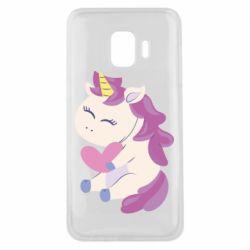 Чехол для Samsung J2 Core Unicorn with love