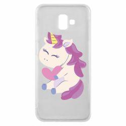 Чехол для Samsung J6 Plus 2018 Unicorn with love