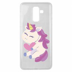 Чехол для Samsung J8 2018 Unicorn with love