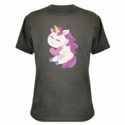 Камуфляжная футболка Unicorn with love