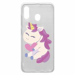 Чехол для Samsung A20 Unicorn with love