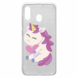 Чехол для Samsung A30 Unicorn with love
