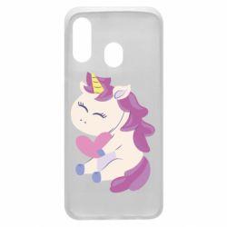 Чехол для Samsung A40 Unicorn with love