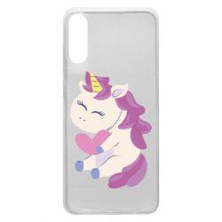 Чехол для Samsung A70 Unicorn with love