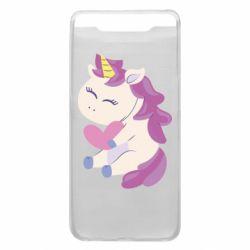 Чехол для Samsung A80 Unicorn with love