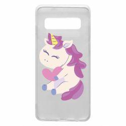 Чехол для Samsung S10 Unicorn with love