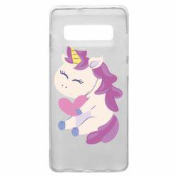 Чехол для Samsung S10+ Unicorn with love