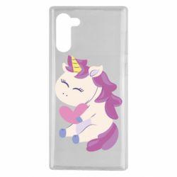 Чехол для Samsung Note 10 Unicorn with love