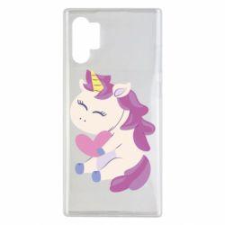 Чехол для Samsung Note 10 Plus Unicorn with love