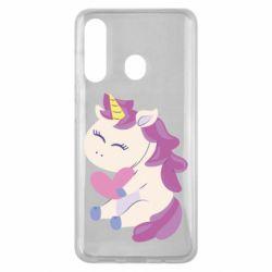 Чехол для Samsung M40 Unicorn with love