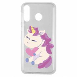 Чехол для Samsung M30 Unicorn with love
