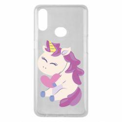 Чехол для Samsung A10s Unicorn with love