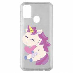 Чехол для Samsung M30s Unicorn with love