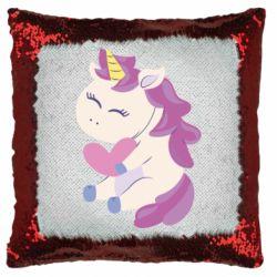 Подушка-хамелеон Unicorn with love