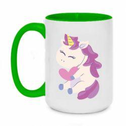 Кружка двухцветная 420ml Unicorn with love